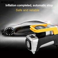 12V Car Auto Portable Pump Tire Inflator Handheld Electric Digital Air Compressor Pump LED Light for Car Truck Motorcycles Bicyc