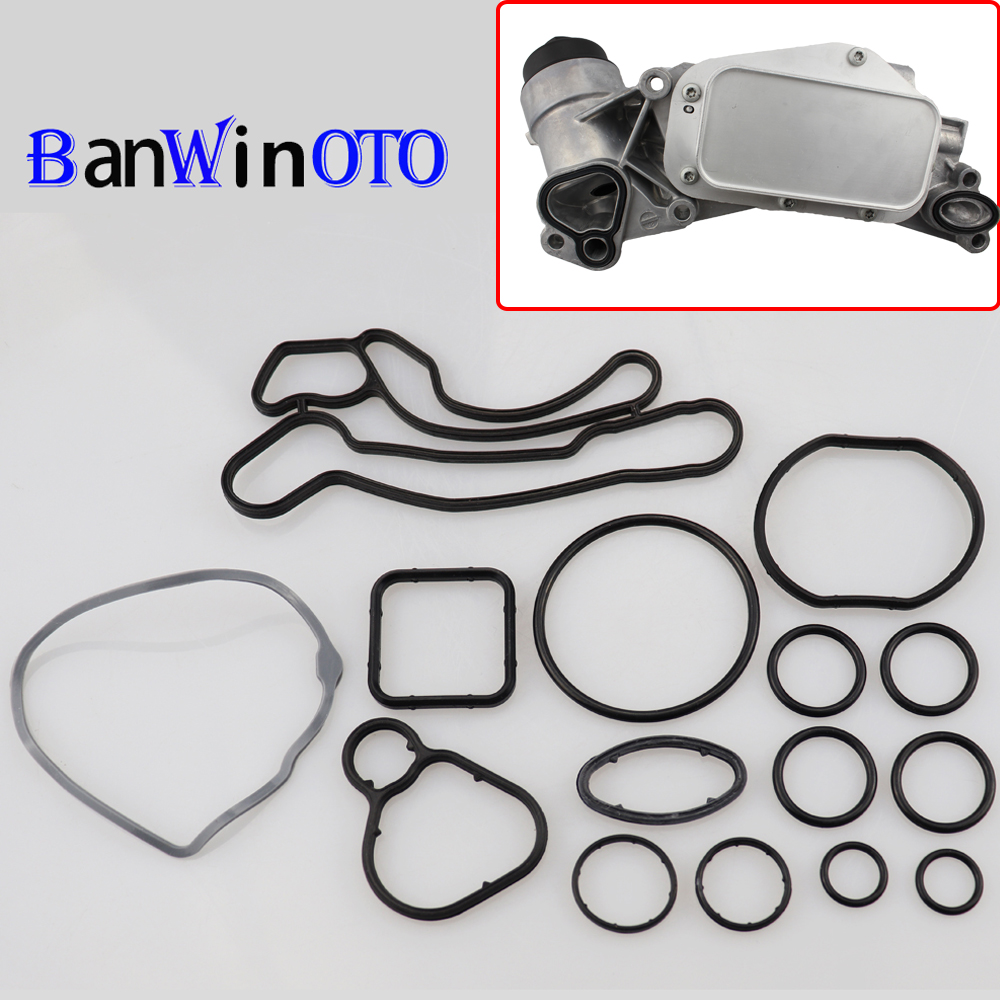 1 Set of Heat Exchanger Gaskets Engine Oil Cooler Repair Kit For Cruze Opel Orlando Astra 55355603  93186324 55353322 55353320