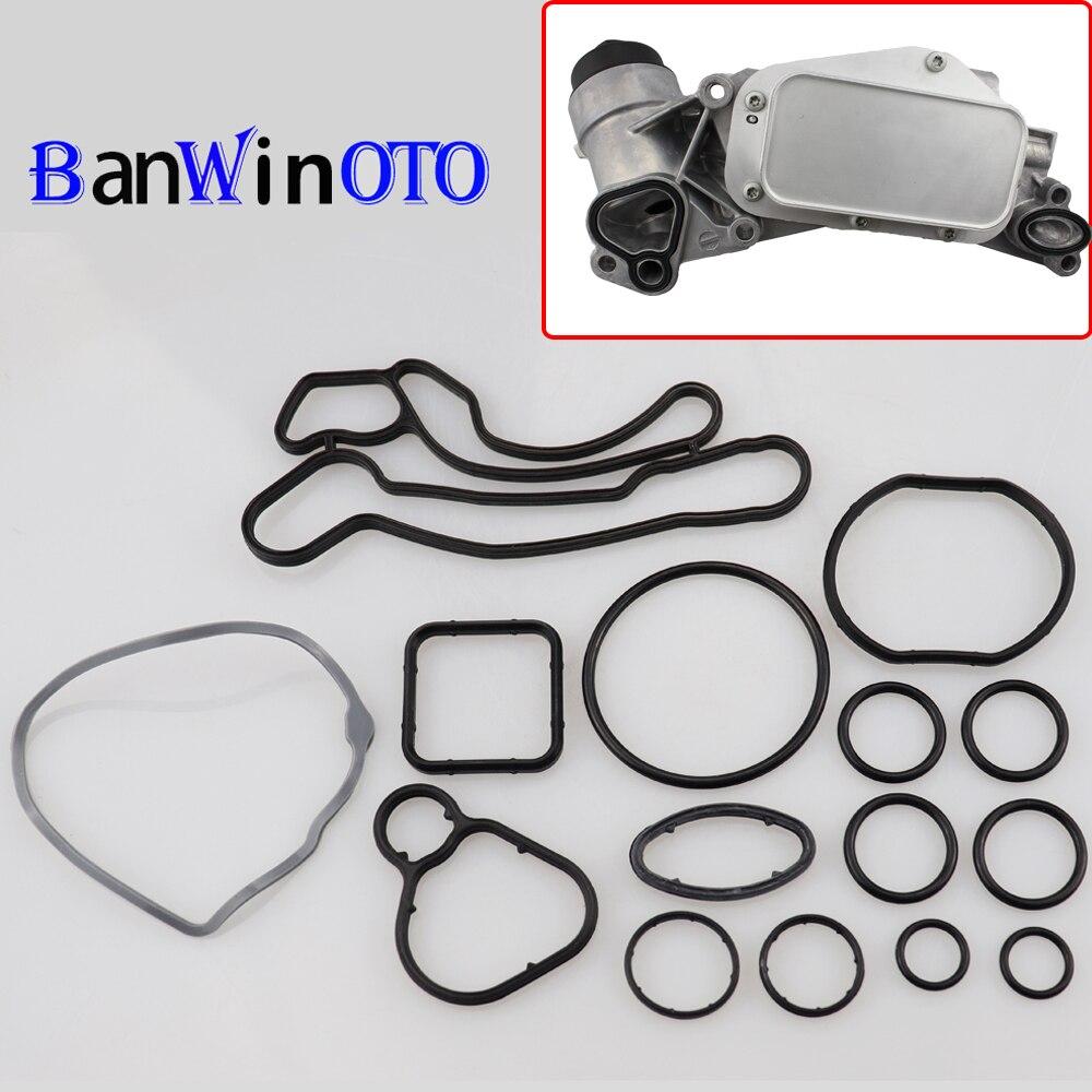 1 Set von Wärme Tauscher Dichtungen Motoröl Kühler Reparatur Kit Für Cruze Opel Orlando Astra 55355603 93186324 55353322 55353320