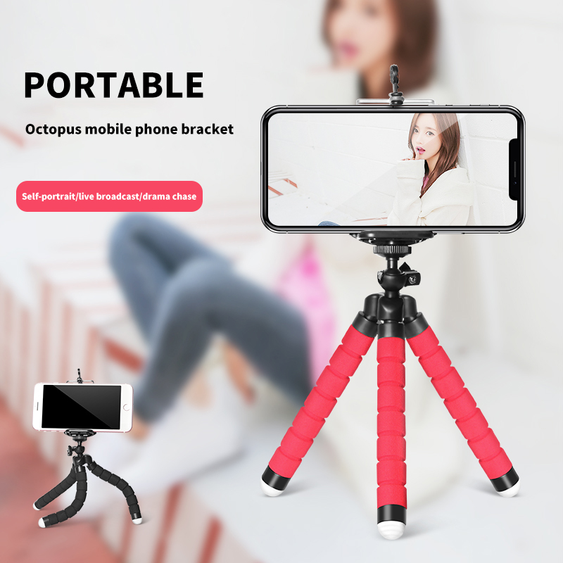 Mobile Phone Holder Tripod Flexible Octopus Bracket Selfie Stand For IPhone Samsung Xiaomi Huawei Honor Oneplus Camera Accessory