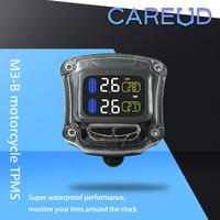 Motorcycle Tools Waterproof TPMS Internal External With 2 Sensor Electronic Tire Pressure Real Time Instrument Monitoring System