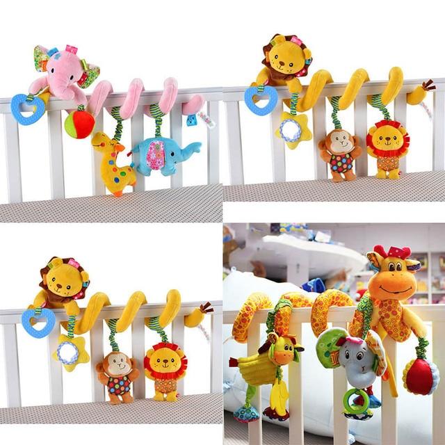 Chocalho de brinquedo infantil, espiral macio para berço, cama, carrinho, brinquedo para bebê, recém nascidos, assento de carro, pendurado, brinquedo educacional para presente