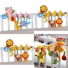Yumuşak bebek beşik yatak arabası oyuncak Spiral bebek oyuncakları yenidoğan için araba koltuğu asma çan eğitim çıngıraklı oyuncak hediye için