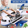 Toy Aircraft Music Story Simulation Track Inertia Children Toy Storage Car trucks vehicles Large Size Passenger Plane Boys Toys