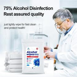 10 PCS Alcohol Detergent Wipes Large Wet Wipes 75% Super Soft Alcohol Wipes For All-Purpose Cleaning For Skin Care
