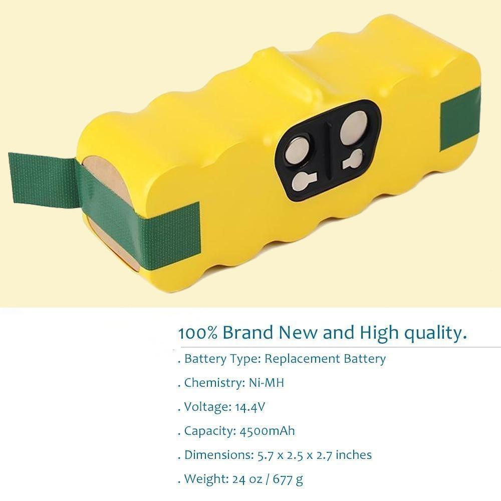 8000mah High Capacity 14.4v Battery For Irobot Roomba Sweeping Robot Vacuum Cleaner 500 540 550 620 600 650 700 780 790 870 900