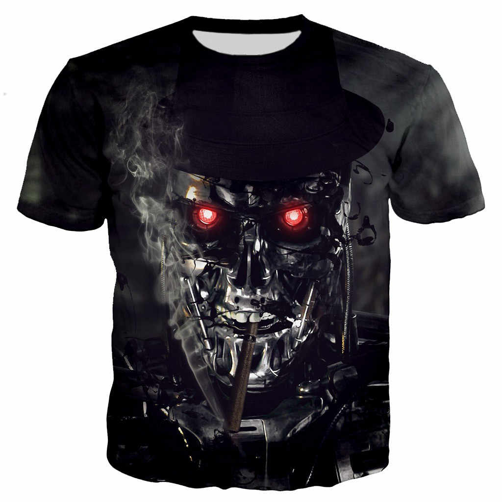 Terminator Arnold Schwarzenegger men/women New fashion cool 3D printed t-shirts casual style tshirt streetwear tops