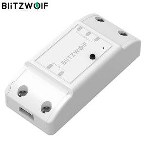 Image 1 - BlitzWolf BW SS4 בסיסי 2200W 10A 1/2 דרך WIFI DIY בית חכם מתג מודול מרחוק בקר שקע לעבוד עם Google עוזר