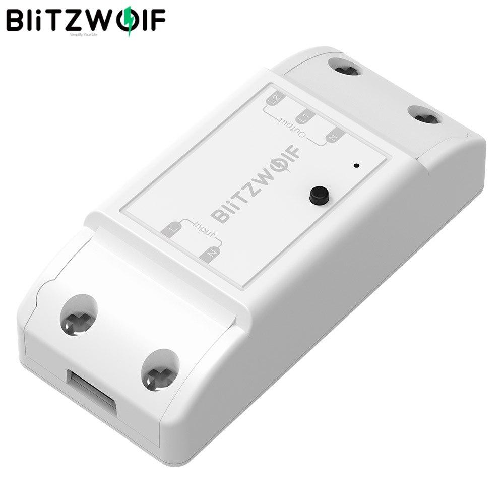 BlitzWolf BW-SS4 de base 2200W 10A 1/2 voies WIFI bricolage Module de commutateur de maison intelligente prise de télécommande travail avec Google Assistant