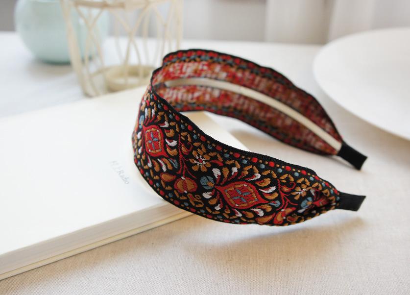 Bohemian Women Embroidered Hairband Head Hoop Simple Sweet Girls Headband