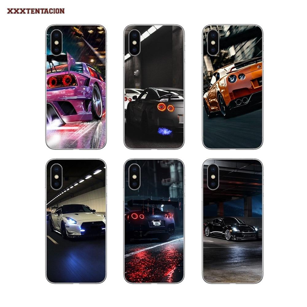 Nissan GTR Carro de luxo Casos TPU Transparente Para Huawei Honra 7 8 10 6 Jogar 4C 5C 5X 6X 7X 8X 9 Lite 7A 6C Pro 5A 6A 7C Nova 3 3i