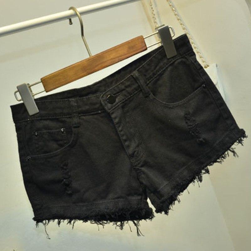 Z 2019 New Shorts Femme Casual Summer Hot Sale Shredded Jeans High Waists Fur-lined Leg-openings Plus Size Denim Femme Shorts