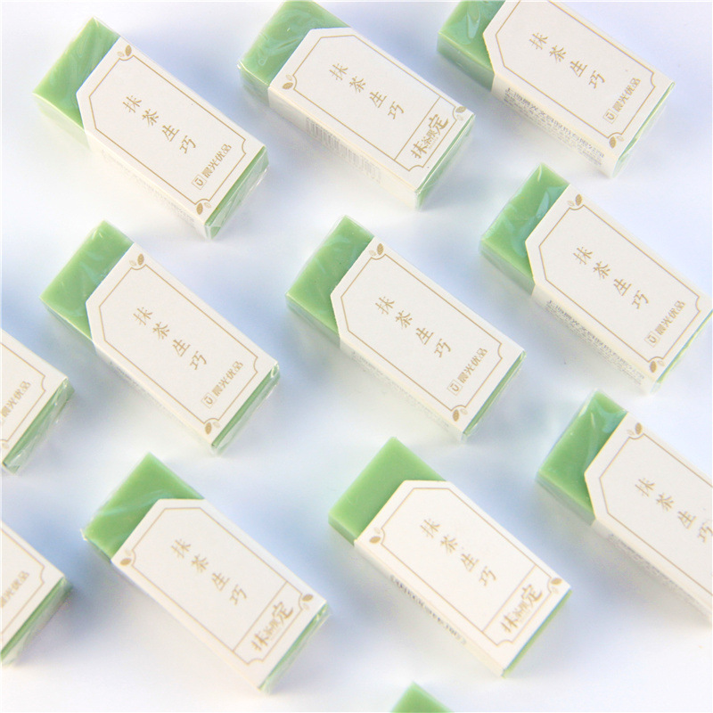 M&G Superior Products Matcha Qualified Born Clever Rubber Eraser Exam Rubber Sassafras Students Creative 4B Rubber N0751