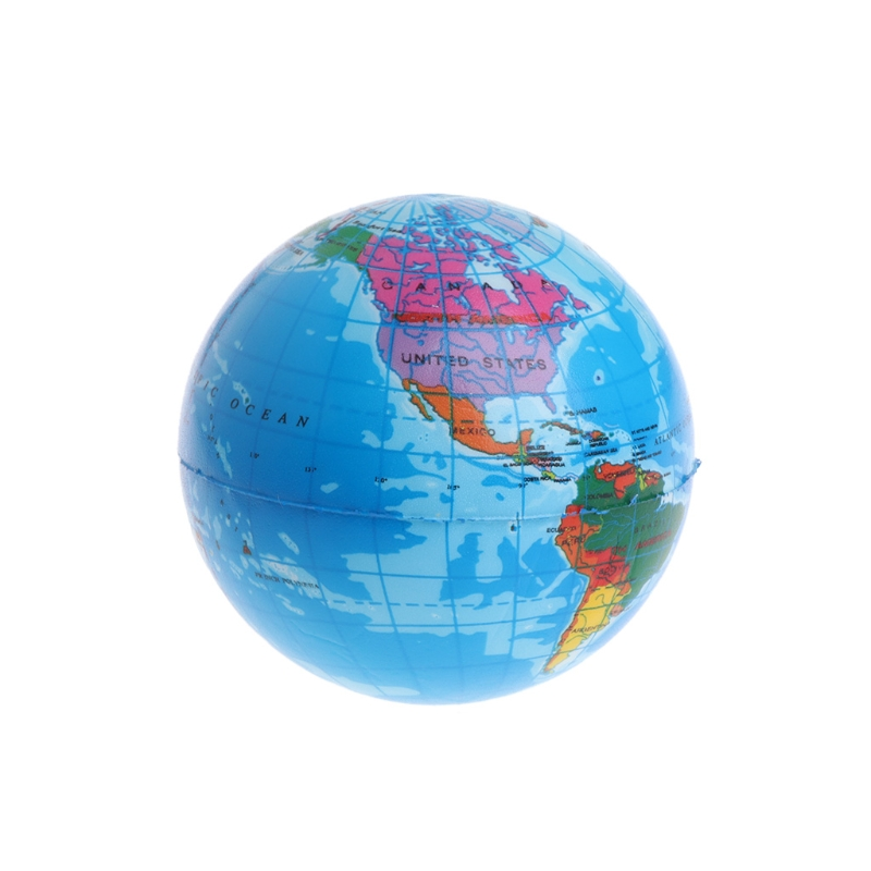 Fast Rising Squeeze Antistress Stress Relief World Map Ball Planet Earth Y4QA