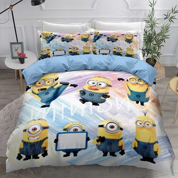 Funny Capsule Bedding Set Microfiber Bed Linen Set 2/3Pcs Custom Single Double Comforter Cover Pillowcase Happy New Year Gift 1