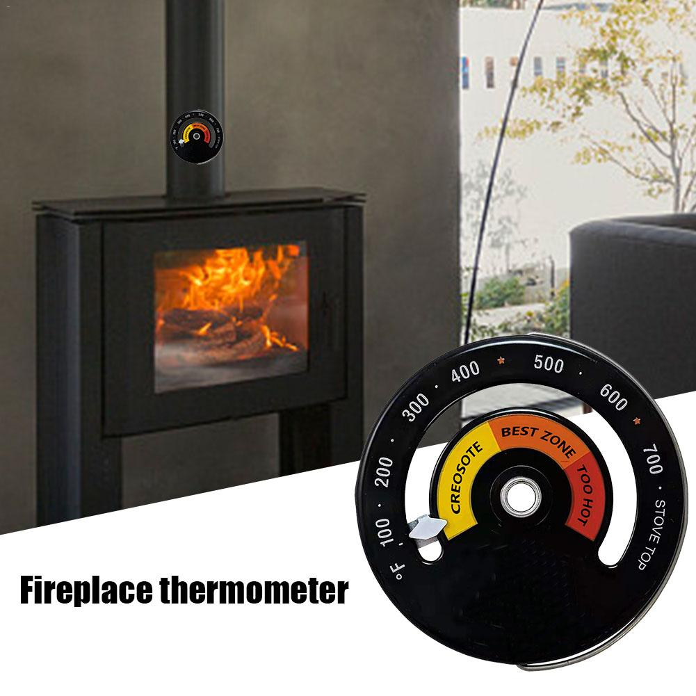 Magnetic Stove Thermometer Heat Powered For Wood Log Burning Stove Fireplace Burner Fireplace Fan Thermometer With Large Display