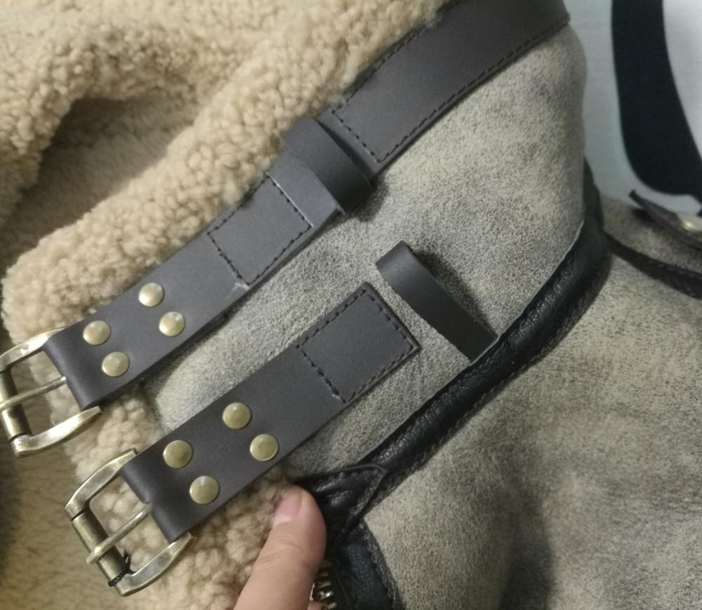 H2f2dead995f240288b94e060916df661Y 2019 Fashion 100% Quality Real Sheepskin Fur Men Coat Genuine Full Pelt Sheep Shearling Male Winter Jacket Brown Men Fur Outwear