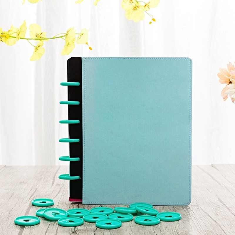 12pcs Plastic Ring Binder For Spiral Notebook Diary Loose Leaf Book Bind Hf Business Com Office