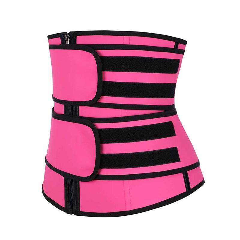 CXZD Women Waist Trainer Fitness Sauna Sweat Neoprene Slimming Belt Girdle Shapewear Modeling Strap Zipper Body Shaper 5