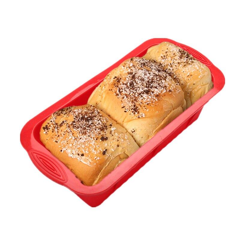 Силиконовая форма для выпечки хлеба Прямоугольная тостов антипригарная