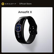 Amazfit x smartwatch versão global curvada tela titanium corpo sono monitoramento 5atm resistente à água multi modos de esportes