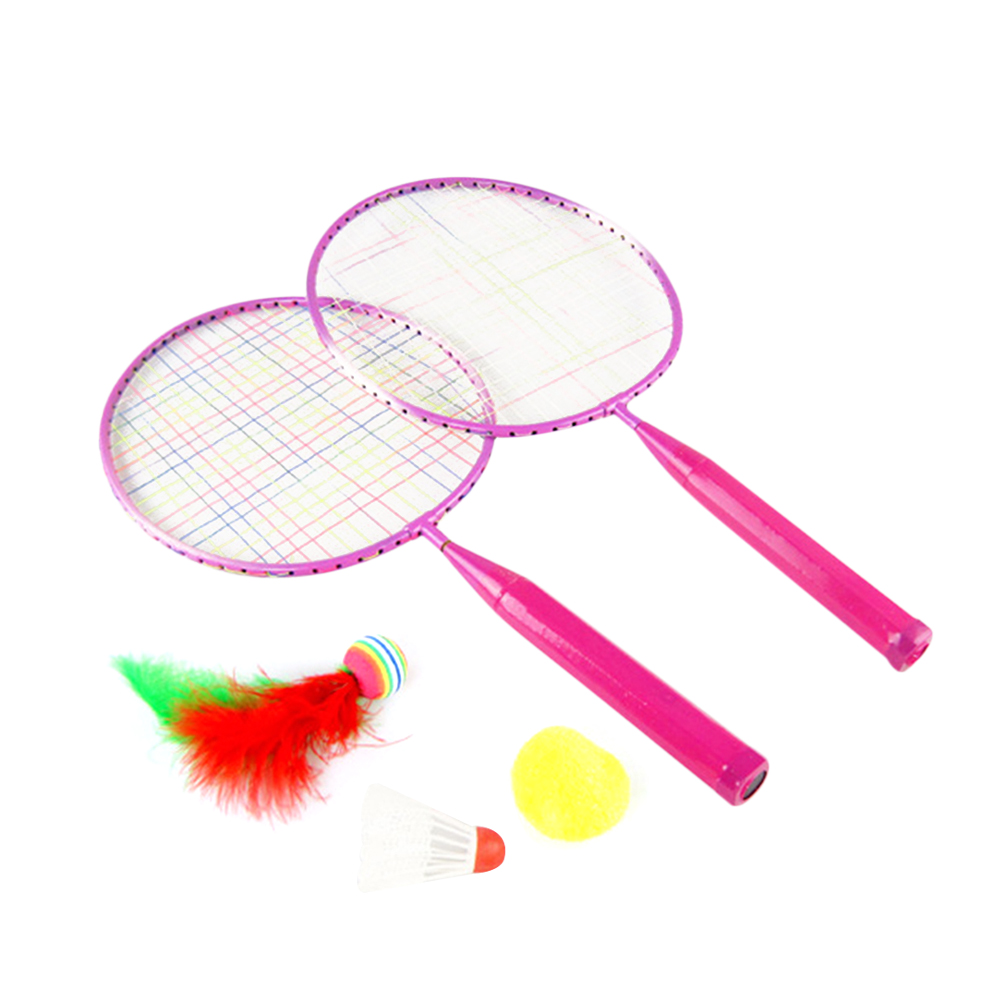 1set Badminton Racket Portable Funny Toys Badminton Set With 3 Badminton Shuttlecock Balls For Kids Children Badminton Kits