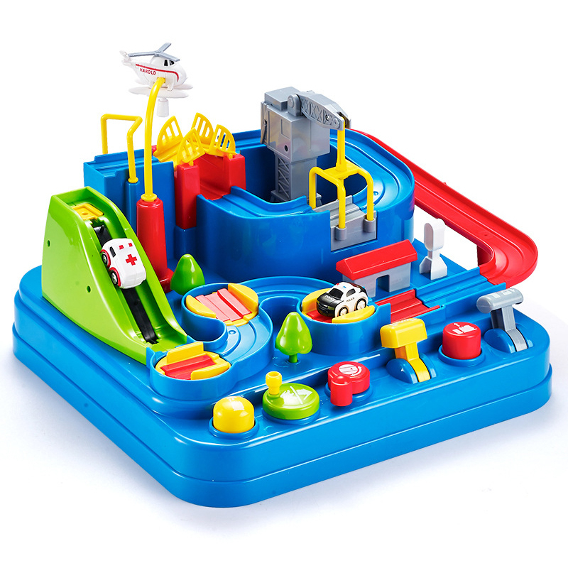Petit train piste grande aventure costume voiture manuel véhicule Rail voiture jouets pour enfants maison jouer jouets interactifs - 2