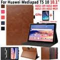 Funda de cuero Premium para Huawei Mediapad T5 10 10,1 AGS2-L09 AGS2-W09 AGS2-L03 funda inteligente para Huawei Mediapad T5 10,1 capa