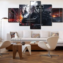5 Pieces Game Battlefield 3 Abstract Skull People Modular Pictures Wall Art Canvas Paintings Print Poster Modern Home Decorative