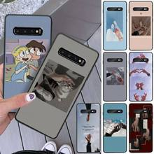 Holding hands TPU black Phone Case Cover Hull For Samsung S8 S8 Plus S9 S9 Plus S10 S10 plus S10E lite S10-5G S20 UITRA plus holding hands
