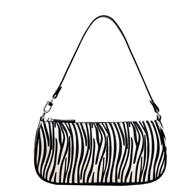 Vintage Luxury Bag For Women 2019 Retro PU Leather Women Shoulder Crossbody Bag Leopard Horse Hair Bags Purse Handbags Bolsas
