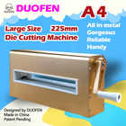 DUOFEN die cutting machine A4 225mm 8inch cutting dies embossing leather fabric cutting for DIY Scrapbook Paper Album 2019 new - 1