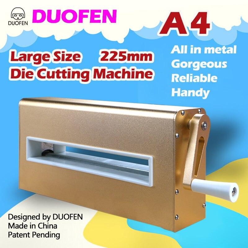 Duofen Sterven Snijmachine A4 225 Mm 8 Inch Stansmessen Embossing Leer Stof Snijden Voor Diy Plakboek Album 2019 Nieuwe