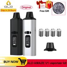 ALD AMAZE V1 สมุนไพรแห้ง Vaporizer Kit ควันสมุนไพร E บุหรี่ Vaporizer VAPE แบบพกพาปากกาขนาดใหญ่ 0.96 นิ้วจอแสดงผล OLED