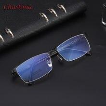 Мужские длинные оптические очки в большой оправе из чистого