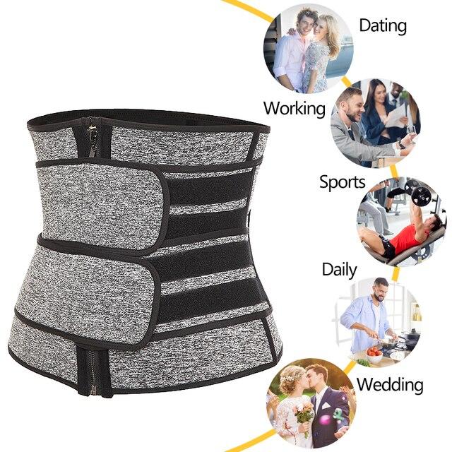 Men's Waist Trainer Weight Loss Body Shaper Belly Shapers Tummy Shapewear Abdomen Slim Girdle Promote Sweat Trimmer Belt Corset 2