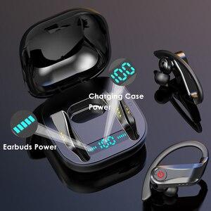Image 4 - Q62 TWS אלחוטי אוזניות Bluetooth 5.0 סטריאו ספורט נפח שליטה מקרה עמיד למים אוזן וו אוזניות מיקרופון