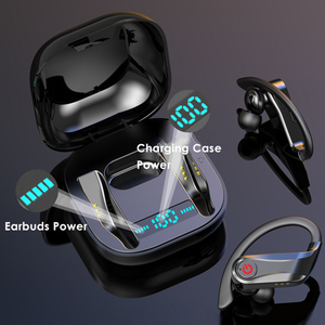 Image 4 - Q62 TWS kablosuz kulaklık Bluetooth 5.0 Stereo Spor Ses kontrolü Su Geçirmez kulak kancası Kulaklık MIc