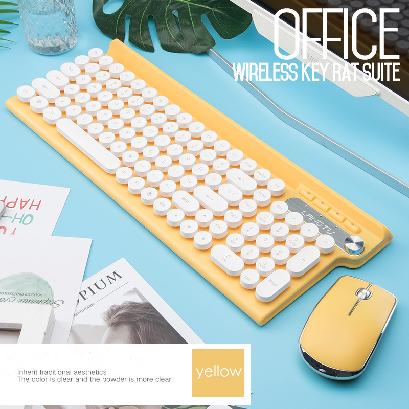 2.4G wireless keyboard and mouse set anti-sprinkling office keyboard mouse set home mute laptop wireless keyboard for office