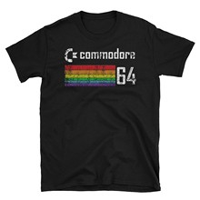 Generation T Retro Distressed Commodore 64 Inspired Unisex T-Shirt(China)