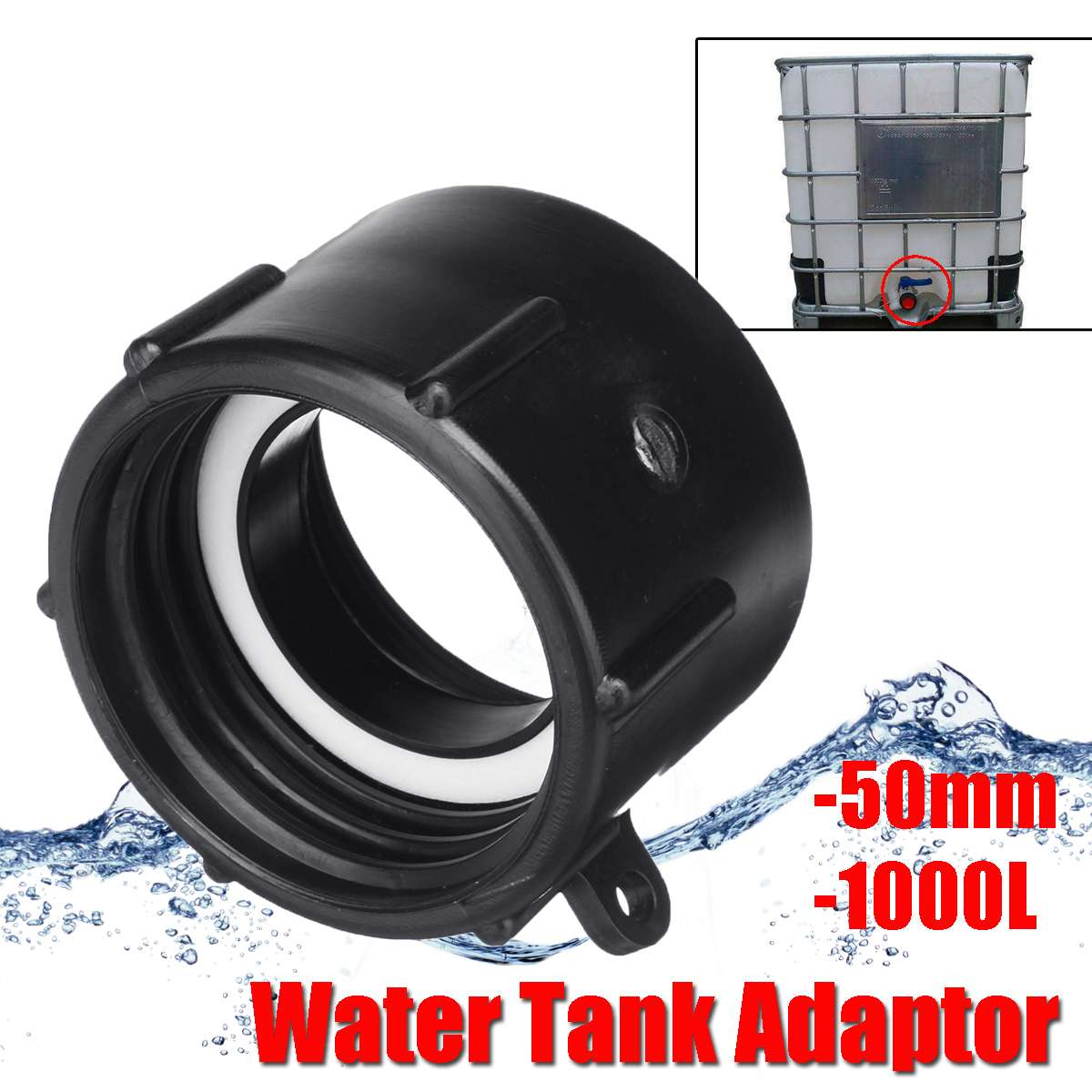 1000L IBC Tank S 50mm 60mm Water Connector Tank Garden Hose Pipe Adapter Fittings  Accessories