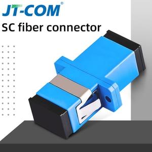Image 1 - 500 sztuk Hot Adapter telekomunikacyjny złącza światłowodowego SC / UPC SM Kołnierz jednomodowy Simplex SC / APC Adapter złącza światłowodowego SC SC Łącznik Specjalna sprzedaż hurtowa do Brazylii