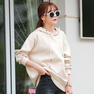 2019 Women Sweatshirt Hoodies Solid Print Loose Plus Size For Women Womens Hoodies  Sweatshirts