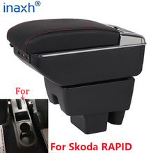 For Skoda RAPID Armrest Retrofit For Volkswagen Polo 2020 Car Armrest box Center Storage box car accessories Interior USB