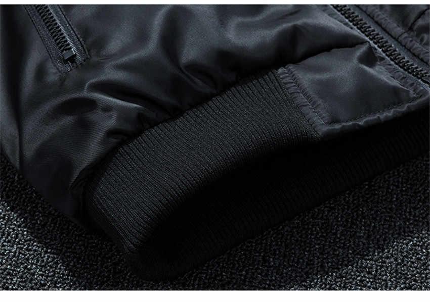 M-7XL חורף מעיל גברים מפציץ מעיל רקמה דק + עבה חם Ma1 צבא צבאי אופנוע מעיל גברים מפציץ מעיל בגדים
