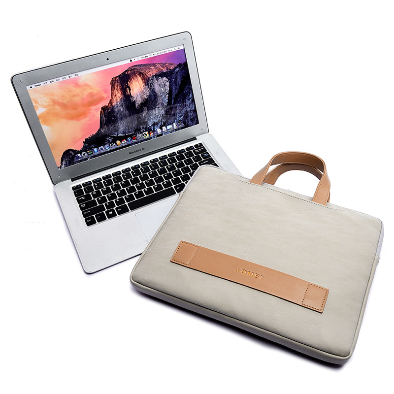 Image 4 - Women Portafolio Portable Briefcase Light Waterproof  PU Leather Thin Notebook Bag 13 13.3 14 15 15.6 Inch for Macbook Pro CaseBriefcases   -