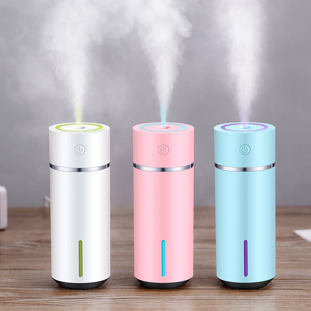 240ML Air Humidifier Mini Aromatherapy Essential Oil Ultrasonic Diffuser With 7 Color Night Light Aromatherapy Car Humidifier