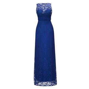 Image 1 - Dressv 로얄 블루 특종 목 긴 저녁 드레스 구슬 민소매 저렴한 결혼식 파티 공식 드레스 칼집 이브닝 드레스