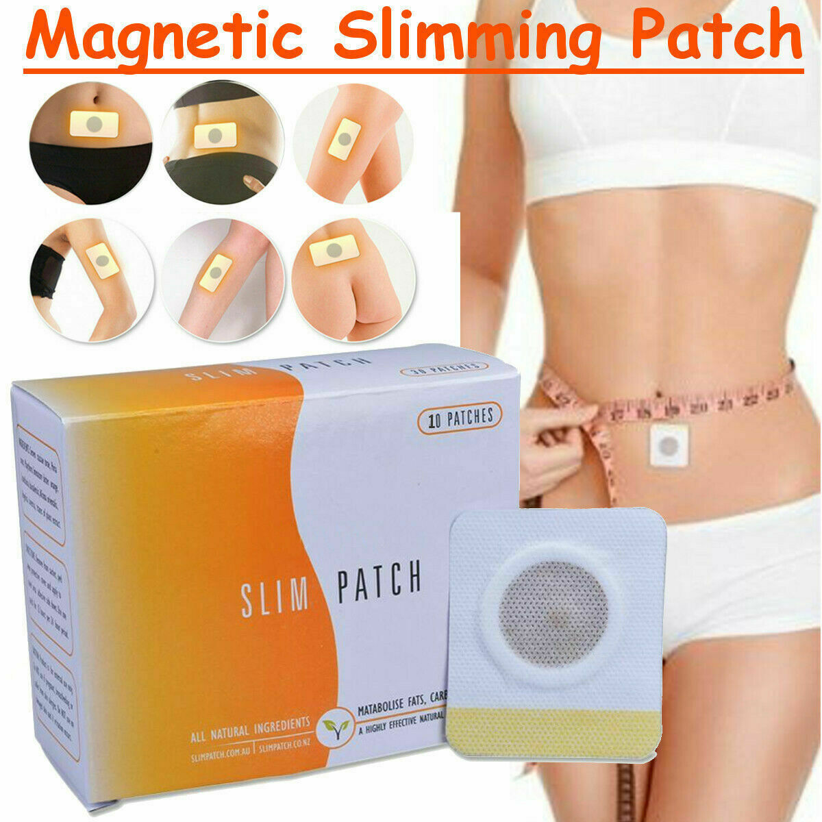 30PCS/Box Slimming Massager Anti Cellulite Weight Loss Fat Burning Slim Patch Pads Detox Adhesive Sheet Belly Sticker Face Lift