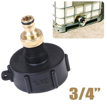 """IBC Adapter With 3/4"""" Connector S60x6 IG For IBC Water Tank Rain Barrel 1000L"""